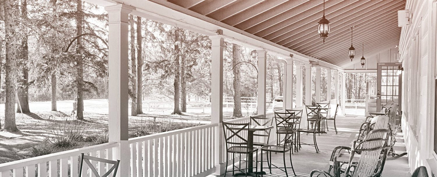 filtered image of Mountain Top Lodge porch view