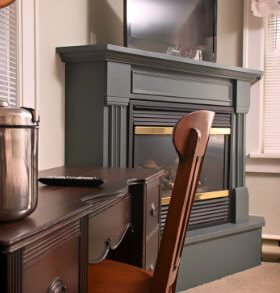 "Our Traditional Plus Room #7 – ""On the Mountain"" is located on the second floor of Mountaintop Lodge at Lake Naomi in the Pocono Mountains of PA. This lodging accommodation has an added bonus of a large gas fireplace in the corner (seasonal). Pale green walls are adorned with antique winter sports equipment….a child's toboggan hangs above the queen-size sleigh bed, which is made up with Comphy brand linens. This is the perfect to place to lounge and enjoy a favorite program or movie on the flat-screen television with DVD player that sits on the fireplace mantle. A writing desk is perfectly placed under the southern-facing window, which overlooks the front lawn. Two additional western-facing windows overlook the side yard where oftentimes the deer come to play. This room features a large bathroom with pedestal sink and shower stall. A closet is in the bathroom with a three-drawer wicker storage unit for your belongings. Thick Turkish cotton towels are available as are a hairdryer and Lather bath amenities. ""On the Mountain"" (Traditional Plus Room #7) sleeps a maximum of two guests. If requested, it can be combined with our ""Tee Time Room"" (Queen Suite #8) to create a larger family room. Mountain Room Virtual Tour MIDWEEK WEEKEND HOLIDAYS $160 $175 $175 SUMMER SEASON MIDWEEK WEEKEND HOLIDAYS $175 $190 $190 Previous Room 
