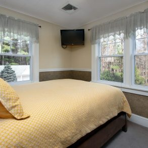 Poconos bedroom and views