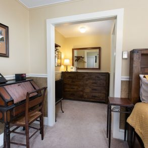 Poconos bedroom and dressing area