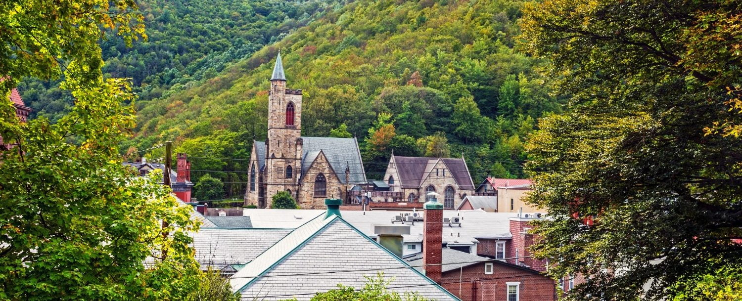 view of the town of jim thorpe